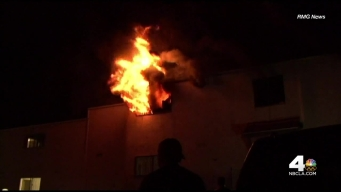 Neighbors Rush to Help in Encino Apartment Fire