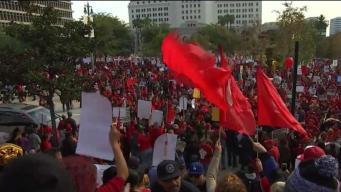 NewsConference: LAUSD Board President on Teachers' Strike