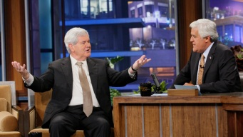 """Newt Gingrich Schmoozes with Snooki on """"Tonight Show"""""""