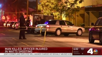 One Killed, Officer Injured in Watts Shooting