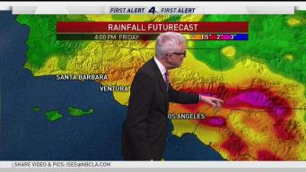 PM Forecast: Heavy Rains Batter SoCal