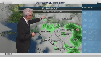 PM Forecast: Rain Hits SoCal