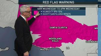 PM Forecast: Red Flag Warning in Effect Wednesday