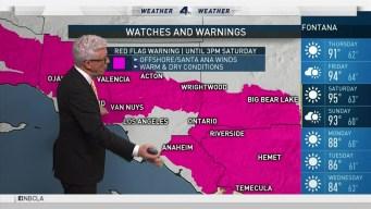PM Forecast Strong Santa Ana Winds