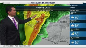 PM Forecast: Strong Storm Approaches SoCal