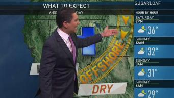 PM Forecast: Strong Winds Start Monday