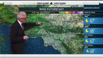 PM Forecast: Warm, Gusty Weekend