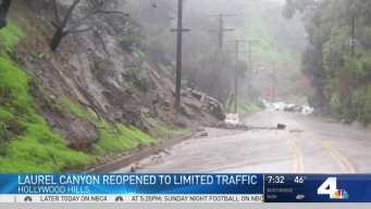 Part of Laurel Canyon Back Open 5 Days After Mudslide