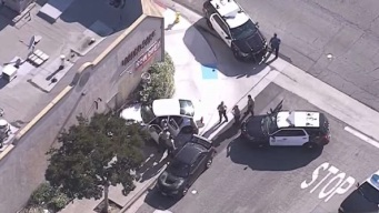Officers Tackle Pursuit Driver After He Crashes Into Bellflower Building