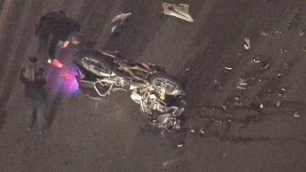 Police Motorcycle and Police Cruiser Collide in Santa Ana