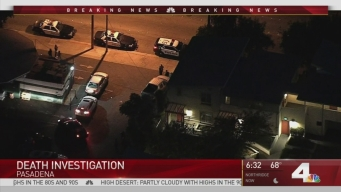 Police Investigate Death of Man in Pasadena