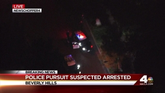 Police Take Down Pursuit Driver in Beverly Hills