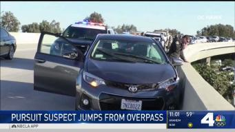 Rape Suspect Leaps From an Overpass After Pursuit