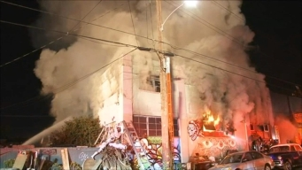 Firefighters Battle Deadly Fire at Oakland Warehouse