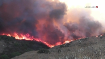 Reche Fire Rages in Moreno Valley