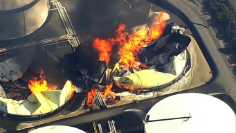 Fire Destroys 2 Storage Tanks at Oil Facility in Crockett