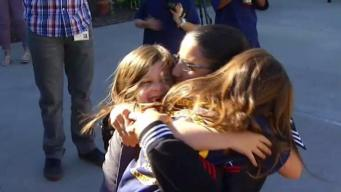 Sailor Arrives for Holidays in Surprise Homecoming