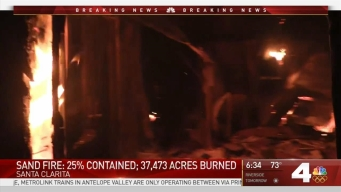 Sand Fire Contained 25 Percent