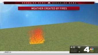 Sand Fire Creates Own Weather Pattern