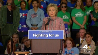 Sanders, Clinton Rally in SoCal