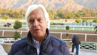 Trainer Bob Baffert Visits Santa Anita Park on Opening Day