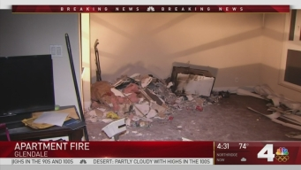 Several Injured After Apartment Fire in Glendale