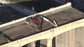 #SlowJam: Bridge Demolition Slows Traffic But Still Moving