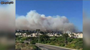Smoke From Cristianitos Fire Blankets Orange County
