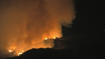 Watch: Helicopters Attack Wildomar Fire Overnight