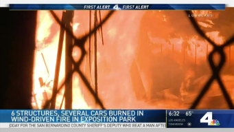 Strong Winds Fuel Exposition Park Fire