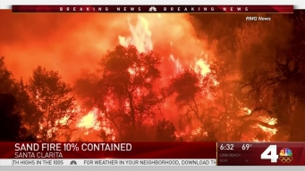 Sand Fire Update: Monday Morning