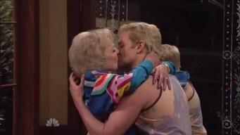 """Betty White Kisses Bradley Cooper on """"SNL"""" 40"""