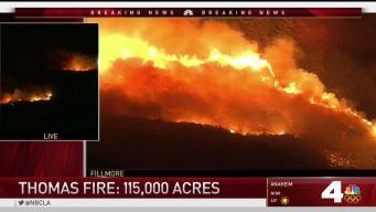 Thomas Fire Ravages Through Ventura for Fourth Day