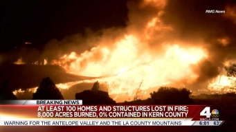 Thousands Evacuated Homes Destroyed in Kern County Fire