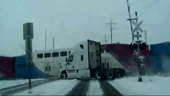 Train Vs Truck Caught on Video
