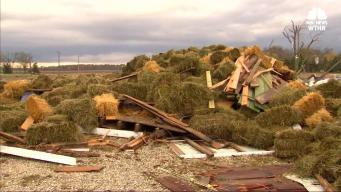 Tornado Traps Men Under 3,000 Bales of Hay