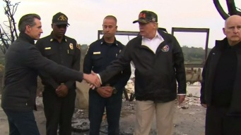 Trump Joins Newsom, Brown to Survey SoCal Wildfires