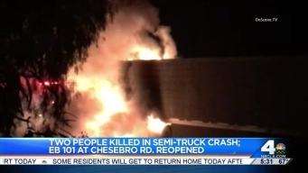 Two Killed in Fiery Crash on 101 Freeway