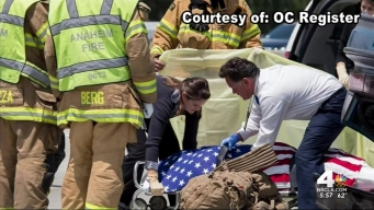 US Marine Honored After Fatal Crash in OC