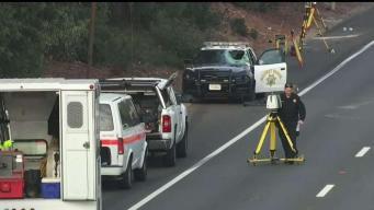 CHP Cruiser Hits Uber Passenger Running on 101 Freeway