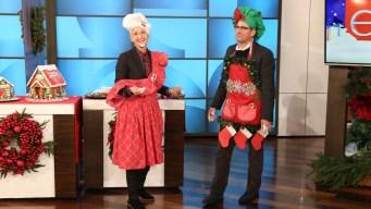 Steve Carell and Ellen DeGeneres Make Gingerbread Houses