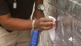 Vet Travels From Arizona to Help Clean Vandalized Mural