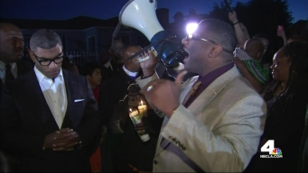 Vigil for 1 Year Old Killed in Gang Violence