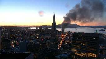 San Francisco Firefighters Control Four-Alarm Fire