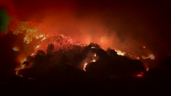 Raw Video: Thomas Fire Burns for Ninth Day