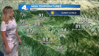 Temps Below Normal for Most of SoCal