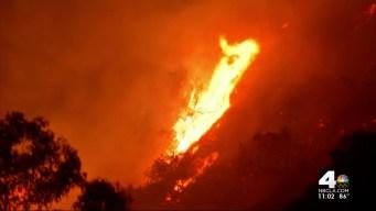 Wildfires Scorch Hills Over San Gabriel Valley