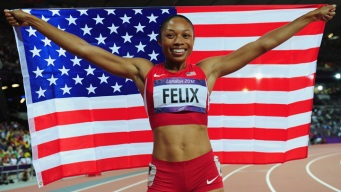 Felix Adds 200m Gold to Two Silver Medals