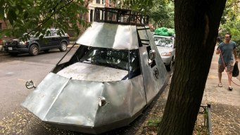 Mysterious 'Spaceship' Parked on NYC Street Turns Heads