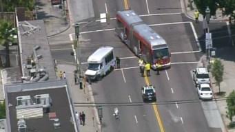 Nine Injured in Metro Bus Crash